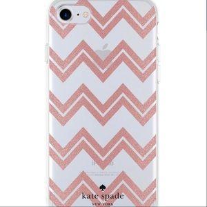 Kate♠️ iPhone 8/7/6s/6 Case Blush Chevron NIB